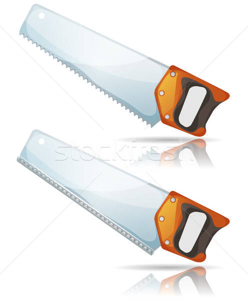 Hand Saw Tool With Steel Blade And Teeth Stock photo © benchart