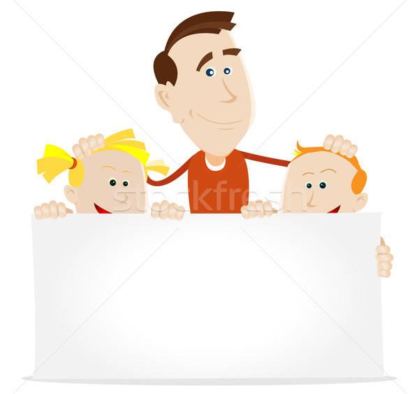 Joyeux anniversaire maman illustration heureux père anniversaire Photo stock © benchart