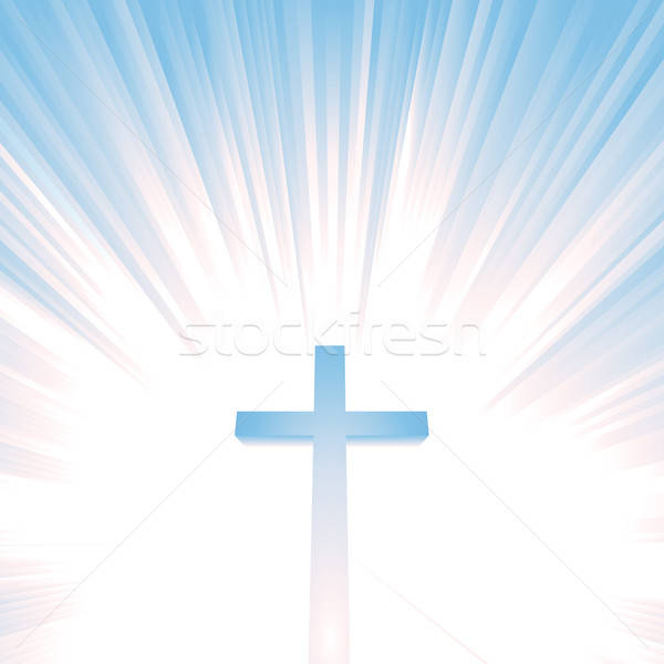 Heaven Christian Cross Stock photo © benchart