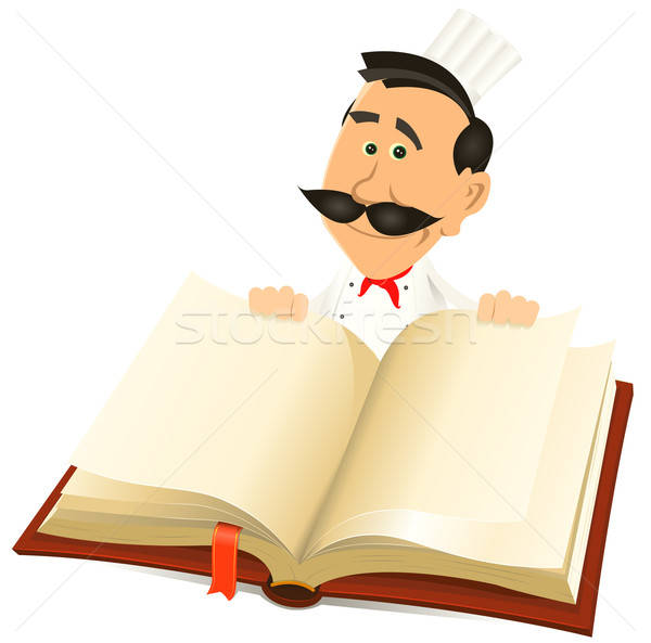 Chef Cook Holding Recipes Book Stock photo © benchart