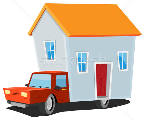 Small House On Delivery Truck Stock photo © benchart