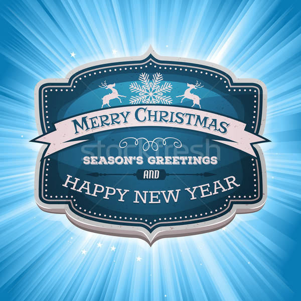 Happy New Year And Merry Christmas Banner Stock photo © benchart