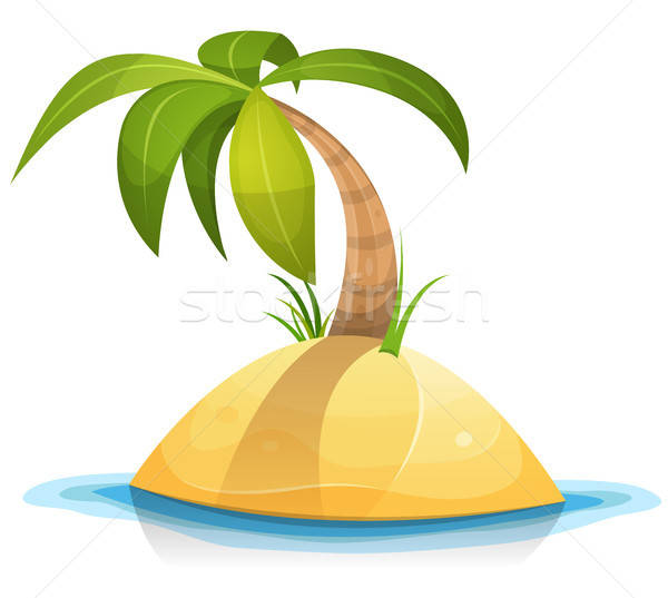 Palm Tree On Tropical Desert Island Stock photo © benchart