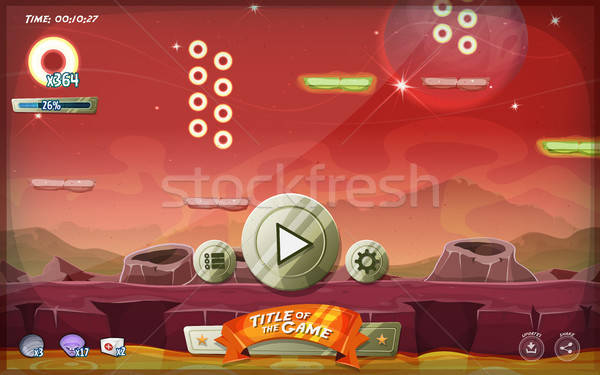 Scifi Platform Game User Interface For Tablet Stock photo © benchart