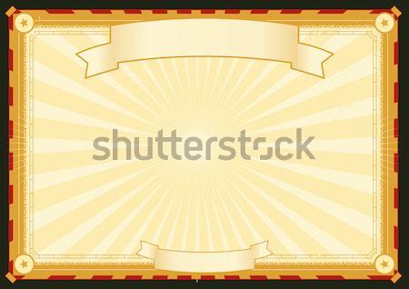 Koninklijk paleis verticaal poster illustratie gestileerde Stockfoto © benchart