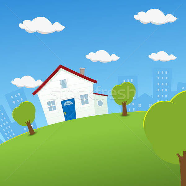 House On A Rounded Earth Stock photo © benchart
