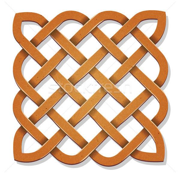 кельтской квадратный текстуры иллюстрация дизайна Гранж Сток-фото © benchart