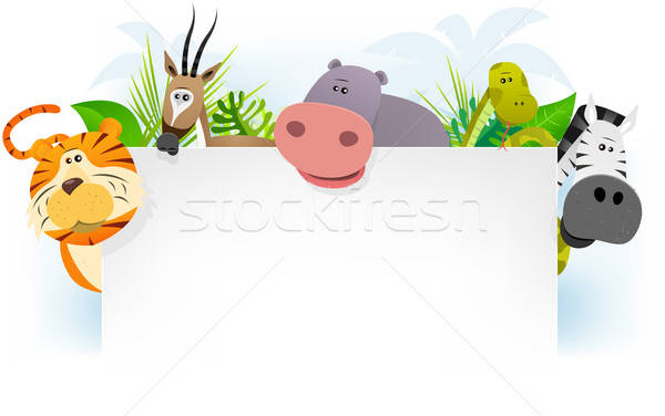 África animales ilustración cute Cartoon Foto stock © benchart