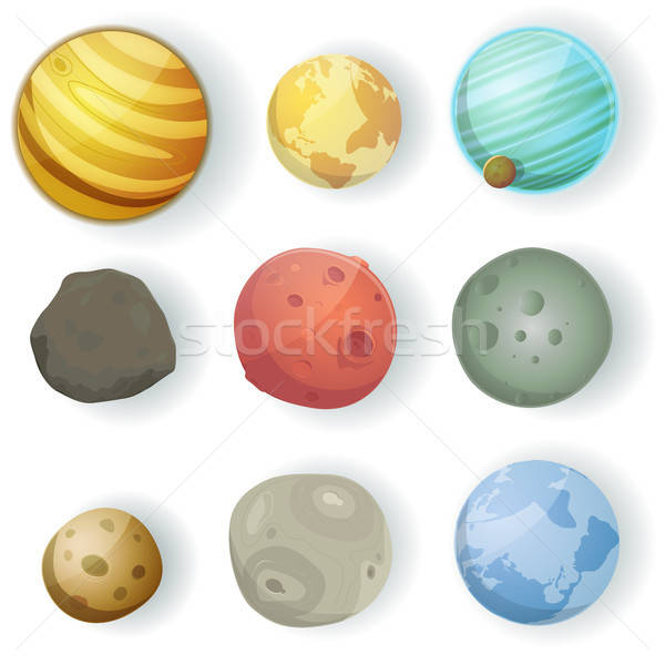 Cartoon Planets Set Stock photo © benchart