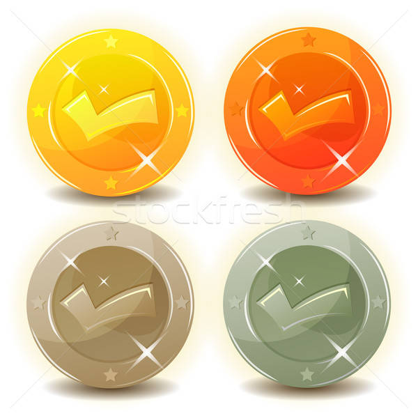 Credit Coins Set For Game Interface Stock photo © benchart