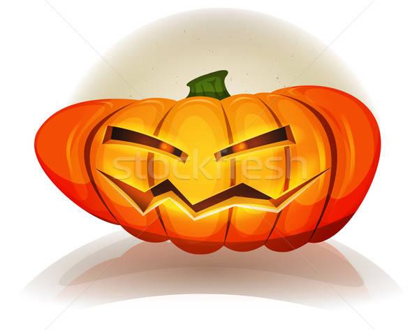 Stok fotoğraf: Cadılar · bayramı · kabak · karakter · örnek · karikatür · komik