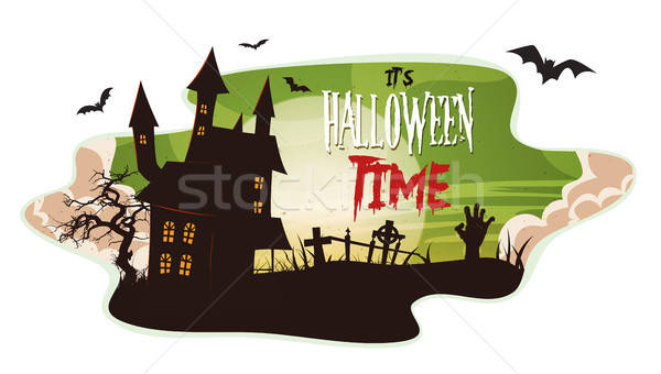 Halloween Smoke Background Stock photo © benchart