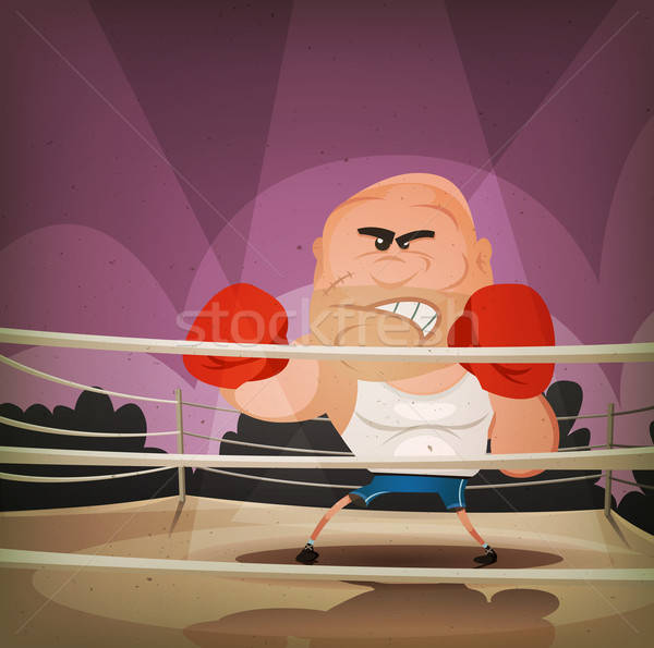 Champion Boxer On The Ring Stock photo © benchart