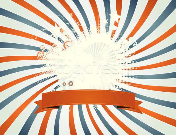 Vintage четвертый пэчворк иллюстрация американский Сток-фото © benchart