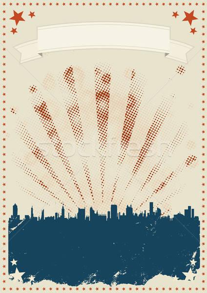 Grunge dördüncü poster örnek bağbozumu amerikan Stok fotoğraf © benchart