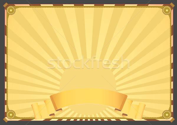 水平な デラックス 実例 ヴィンテージ デザイン ポスター ストックフォト © benchart