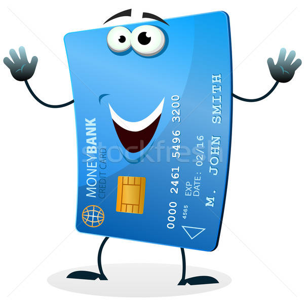Cartoon Credit Card Character Stock photo © benchart