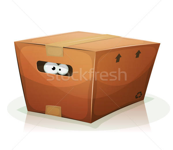 Eyes Inside Cardboard Box Stock photo © benchart