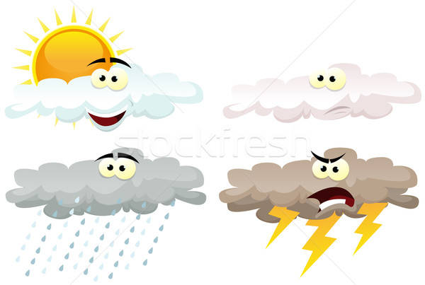 Weather Icons Characters Stock photo © benchart