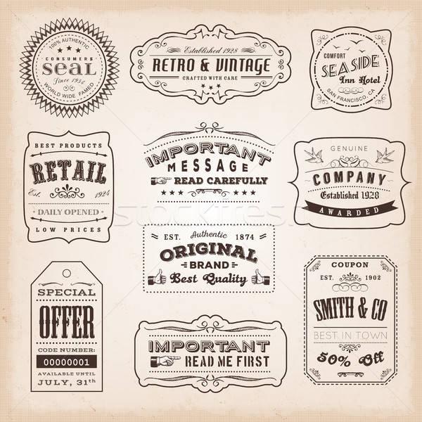 ヴィンテージ ラベル 標識 実例 レトロな ビジネス ストックフォト © benchart