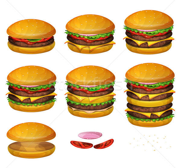 American Burgers All Size Stock photo © benchart