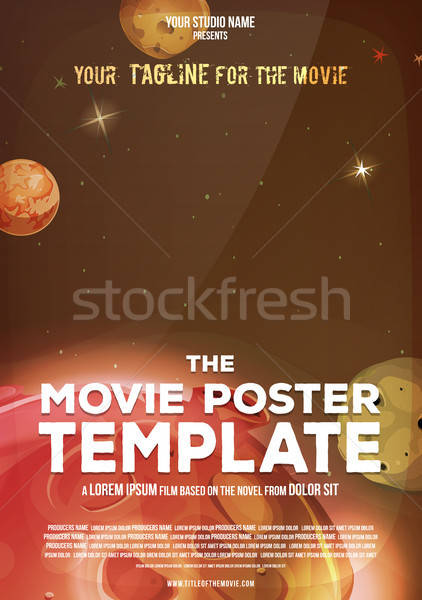 Movie Poster Template Stock photo © benchart