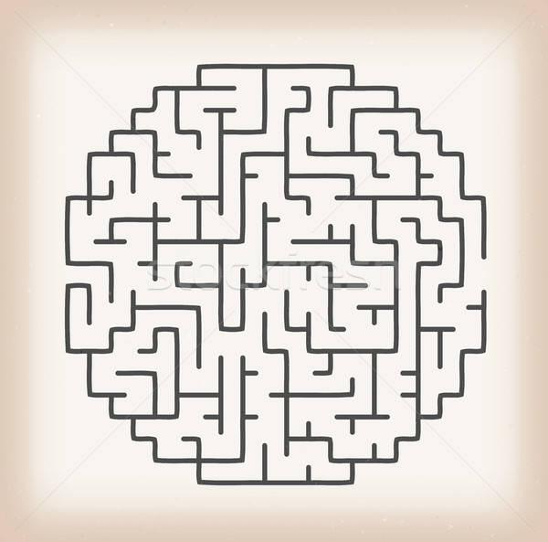 Maze Game On Vintage Background Stock photo © benchart
