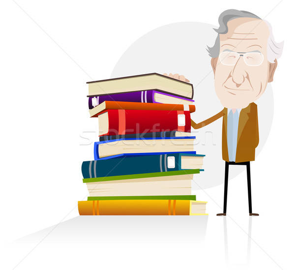 Pouvoir connaissances illustration cartoon science Photo stock © benchart