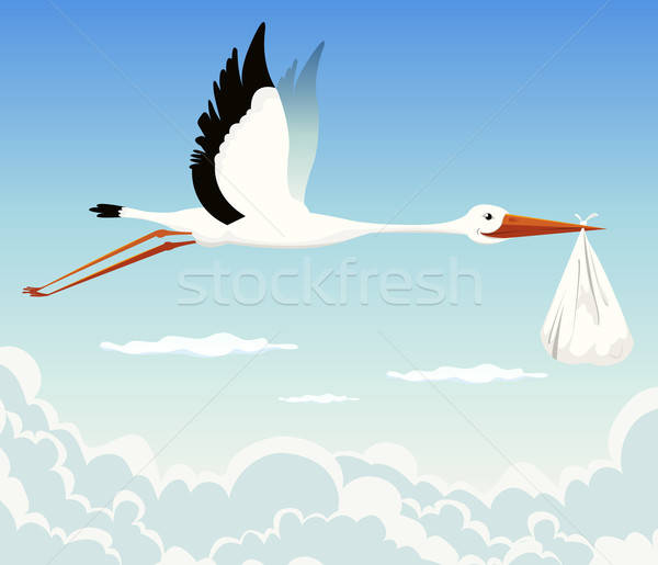 Stork Delivering Baby Stock photo © benchart
