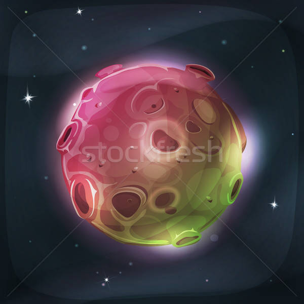 Alien Moon Planet On Space Background Stock photo © benchart