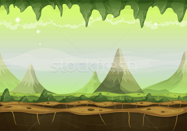 Fantasy Sci-fi Alien Landscape For Game Ui Stock photo © benchart