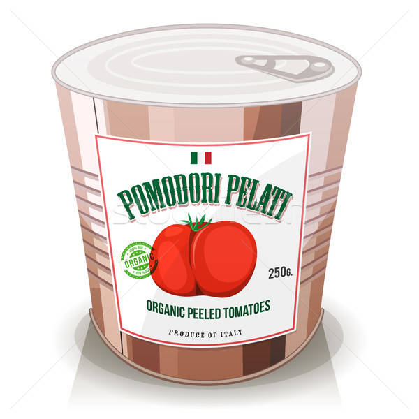 Organic Peeled Tomatoes In Can Stock photo © benchart