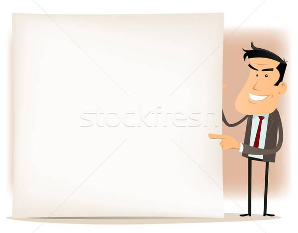 Cartoon Businessman Sign Stock photo © benchart