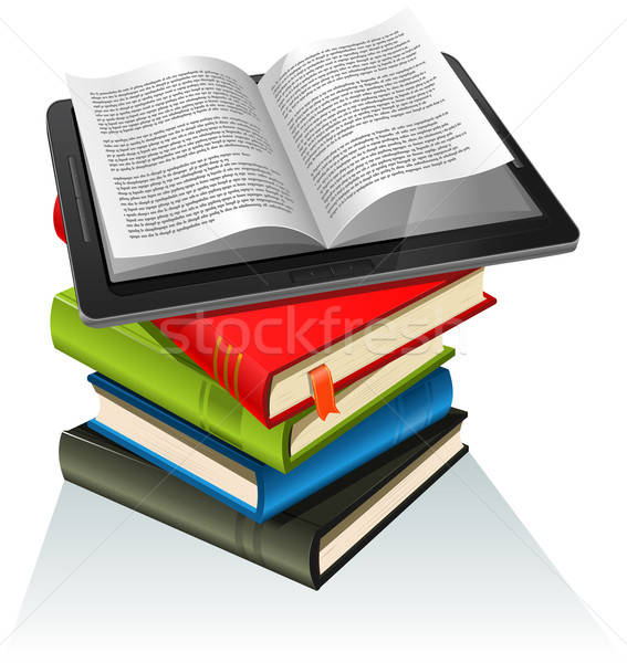 Book Stack And Tablet PC Stock photo © benchart