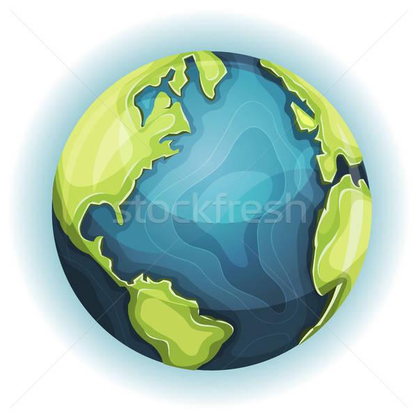 Cartoon Earth Planet Stock photo © benchart