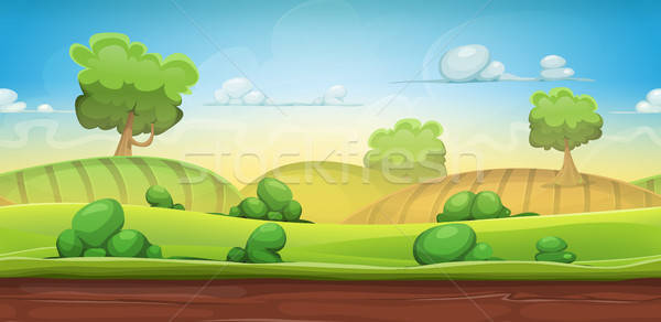 Pays paysage ui jeu illustration Photo stock © benchart