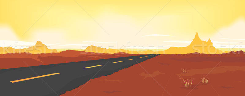 Summer Desert Road Stock photo © benchart