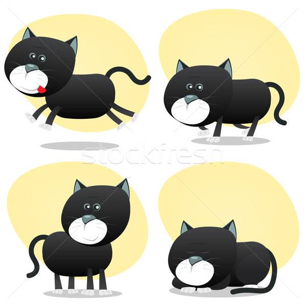 Cartoon набор иллюстрация Cute крошечный Сток-фото © benchart