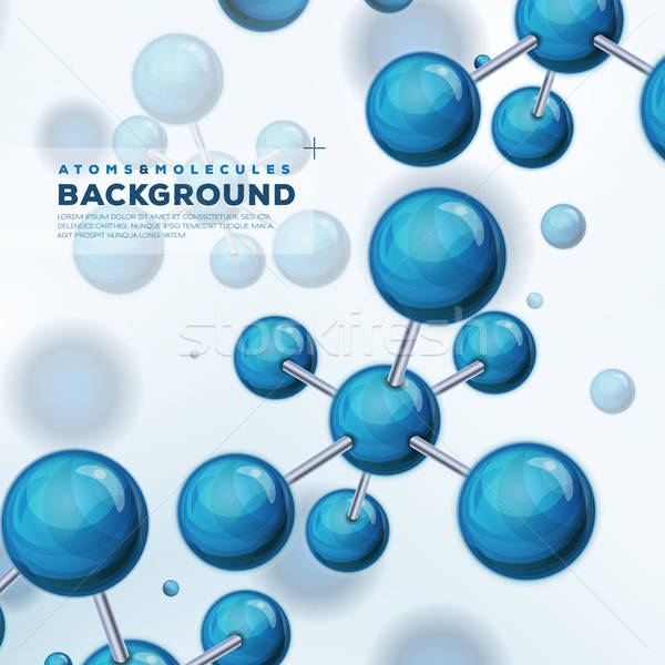 Science Background With Atoms And Molecules Stock photo © benchart