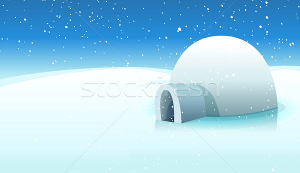 Igloo And Polar Icy Background Stock photo © benchart