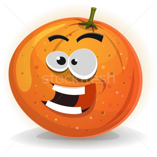 Orange Fruit Character Stock photo © benchart