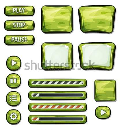 Scifi Space Icons For Ui Game Stock photo © benchart