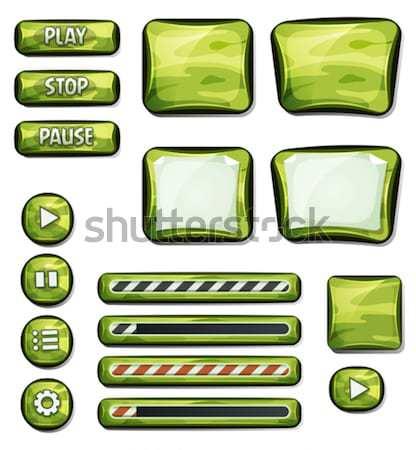 フィクション スペース アイコン ui ゲーム 実例 ストックフォト © benchart