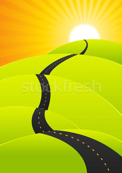 Summer Travel - Long Road Journey Stock photo © benchart