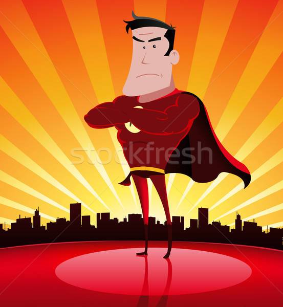 Super Hero In The City Stock photo © benchart