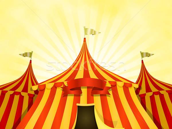 большой Top цирка баннер иллюстрация Cartoon Сток-фото © benchart