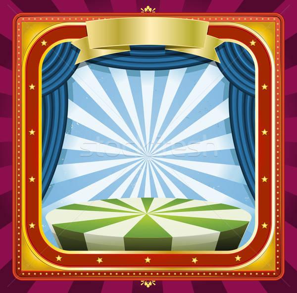 цирка иллюстрация квадратный праздников кадр плакат Сток-фото © benchart