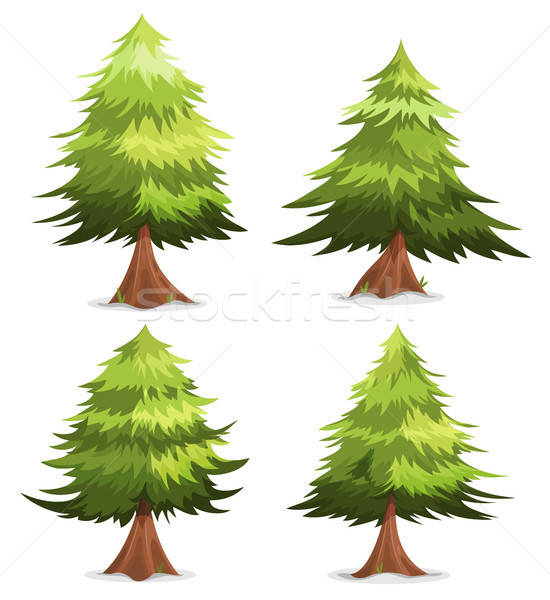 Pin arbres illustration cartoon printemps Photo stock © benchart