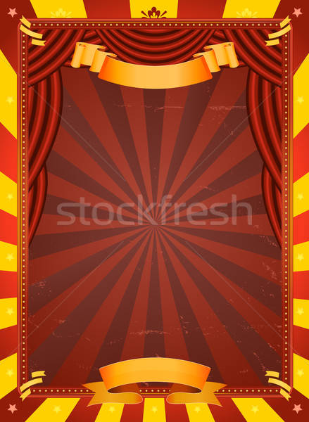 Vintage Circus Poster Stock photo © benchart