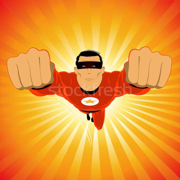 赤 スーパーヒーロー 実例 コミック 名声 有名人 ストックフォト © benchart
